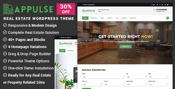 Appulse - Real Estate WordPress Theme