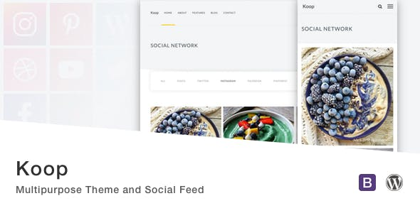 Koop - Multipurpose Theme and Social Feed.