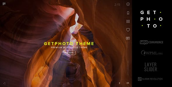 GetPhoto - Photography & Portfolio WordPress Theme
