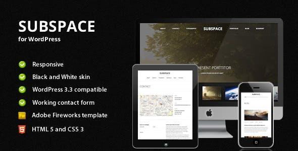 Subspace - Portfolio WordPress Theme