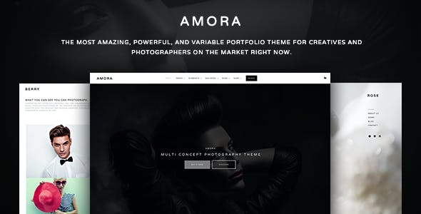 Amora Photography - Creative Multi-Concept Photography Theme