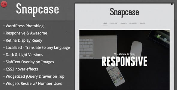 Snapcase - Responsive WordPress Photoblog Theme