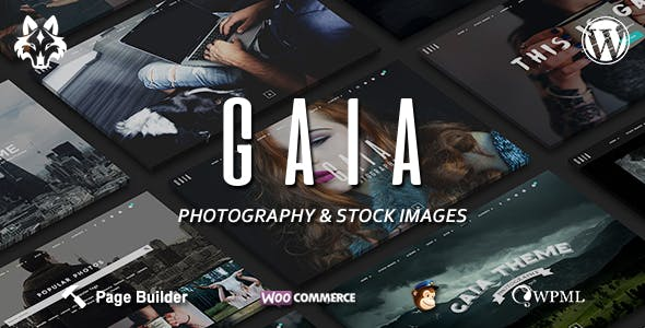 Gaïa - Photography and Stock Images WordPress Theme