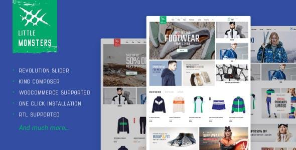 Littlemonsters - Sport Shop WooCommerce WordPress Theme