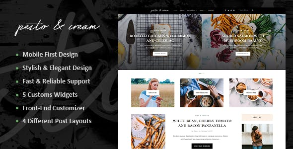 PestoCream - Simple Blog WordPress Theme
