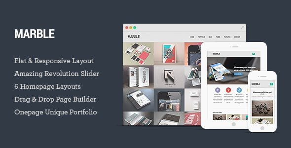 Marble - Flat Responsive Creative WordPress Theme