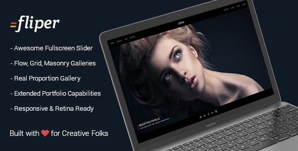 Photo Fullscreen WordPress Theme - Fliper