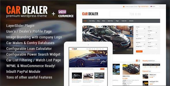 Car Dealer Automotive WordPress Theme – Responsive