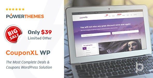 CouponXL - Coupons, Deals & Discounts WP Theme