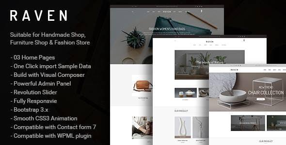 Raven - Responsive WooCommerce and Blog WordPress Theme