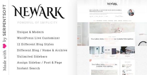Newark - Writing and Personal Blog WordPress Theme