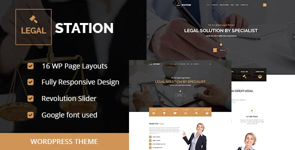 LEGAL STATION- Responsive Legal Solution WordPress Theme