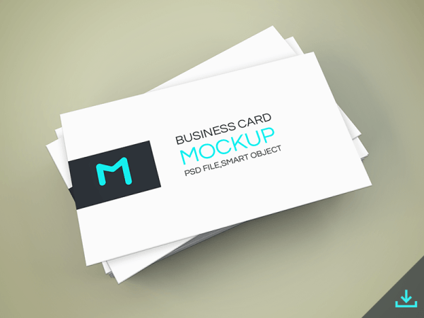 Elegant Business Cards Mockup PSD