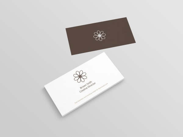 Perspective Business Card Mockup PSD