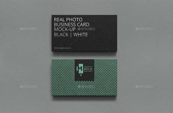 Photorealistic Business Card Mockup Black & White