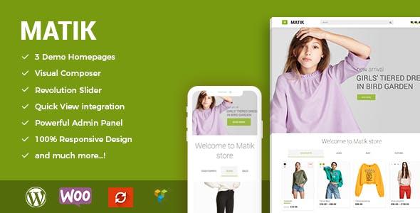 Matik - Minimalist WooCommerce WordPress Theme