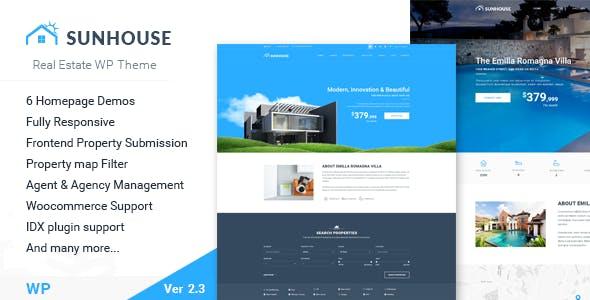 Real Estate WordPress | Sun House Real Estate WP