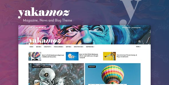 Yakamoz - Magazine, News and Blog WordPress Theme