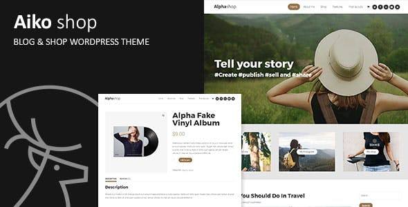 Aiko - Blog & Shop WordPress Theme
