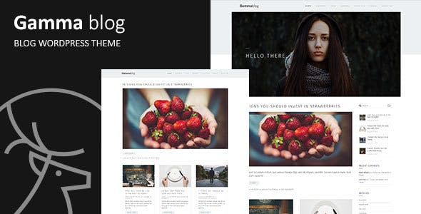 Gamma-blog - Modern WordPress Blog Theme