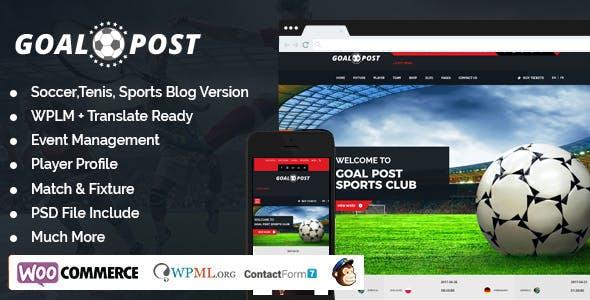 Goal Post Sports Blog WordPress Theme - Sports WP