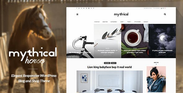 Mythical Horse - Elegant Responsive WordPress Blog and Shop Theme