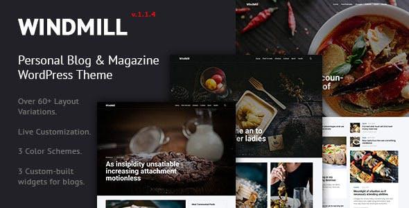 WindMill - Personal Blog & Magazine WordPress Theme