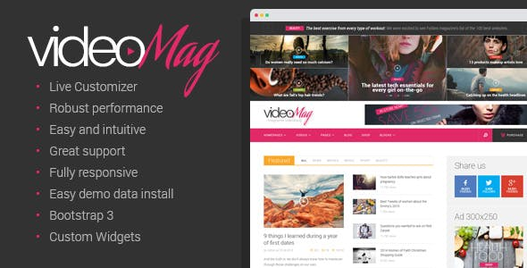 VideoMag - Magazine Videoblog Theme