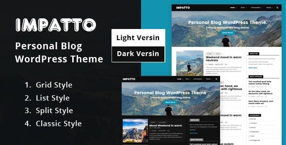 Impatto - Personal Blog WordPress Theme.