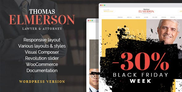 Lawyer & Attorney - Personal Lawyer and Law company WordPress Theme