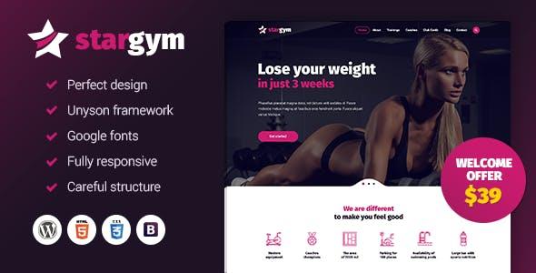 Stargym - Fitness and Gym WordPress Theme