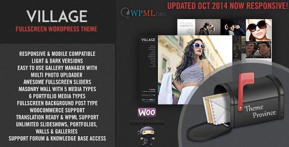 Village - A Responsive Fullscreen WordPress Theme