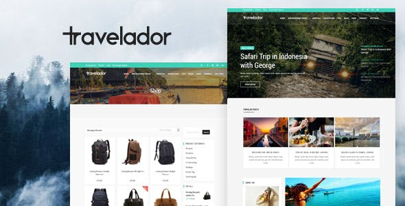 Travelador - WordPress Blog & Shop Theme
