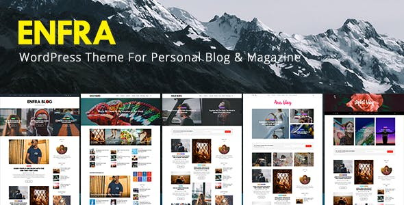 Enfra - WordPress Blog Magazine Theme
