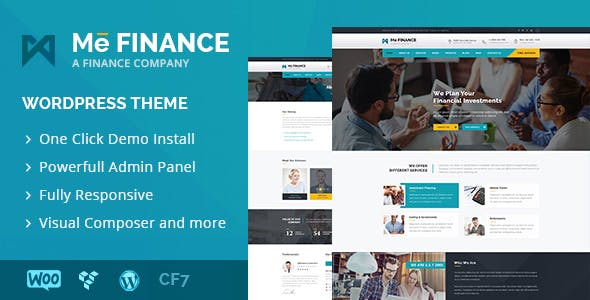 Me Finance - Business and Finance WordPress Theme