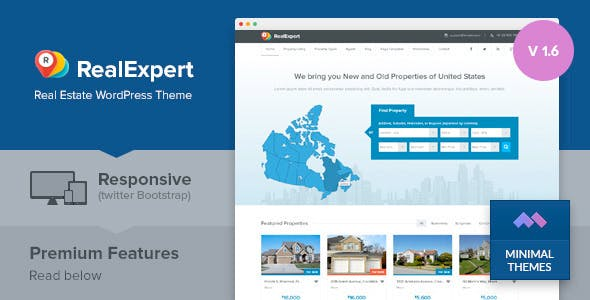 Real Expert - Responsive Real Estate and Property Listing WP Theme