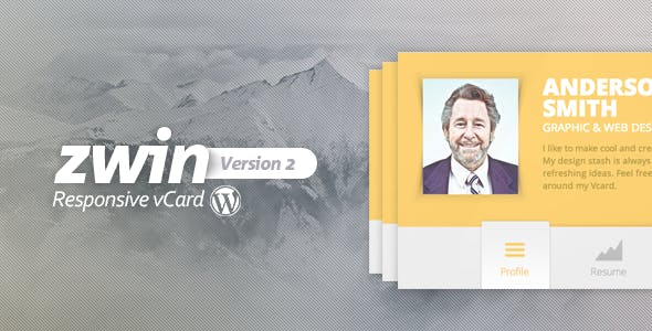 Zwin - Responsive vCard WordPress Theme