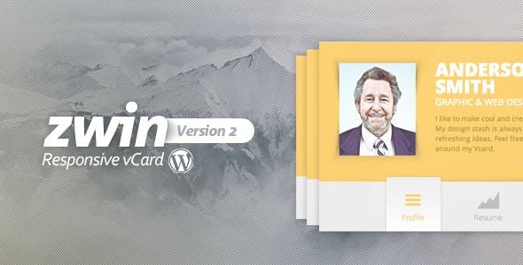 Zwin - Responsive vCard WordPress Theme