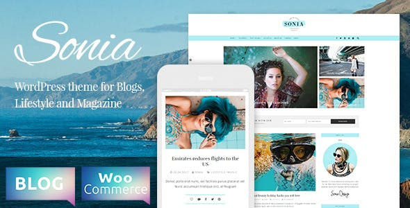 Sonia - A Responsive WordPress Blog and Shop Theme
