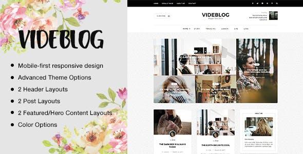 Videblog: A Responsive WordPress Blog Theme