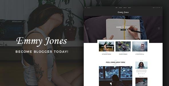 Emmy Jones - A WordPress Blog Theme