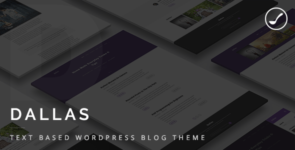 Dallas - Text Based Responsive WordPress Blog Theme
