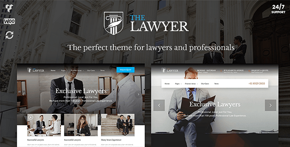 TheLawyer – Attorney & Lawyer WordPress Theme