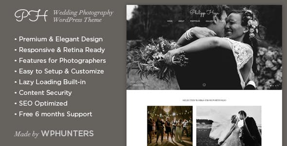 PH - Responsive Wedding Photography WordPress Theme