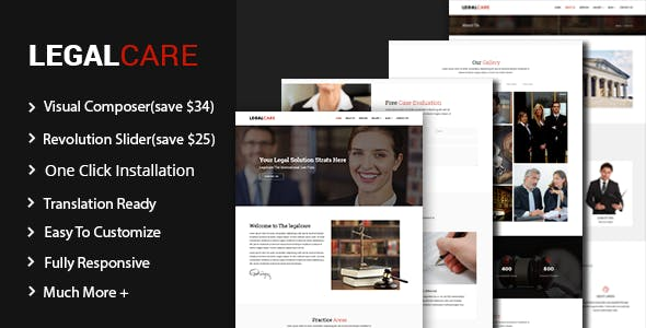 Legalcare - Law Agency and Lawyer Theme