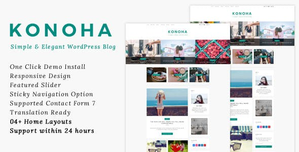 Konoha - A Simple & Elegant WordPress Blog Theme