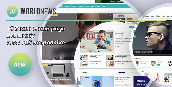 WorldNews - Magazine RTL Responsive WordPress BlogMagazine