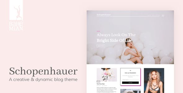 Schopenhauer - A creative & dynamic Blog Theme