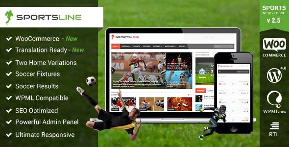 Sports News & Magazine WordPress Theme | Sportsline