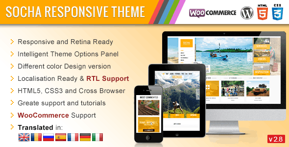 Socha Responsive WordPress Theme